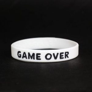 Silikonowa opaska – biała – game over