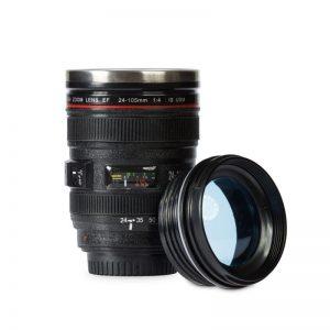 kubek fotografa obiektyw