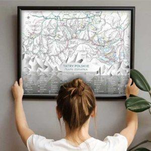 mapa zdrapka tatry polskie