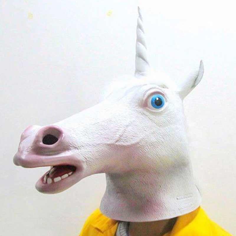 maska jednorożec