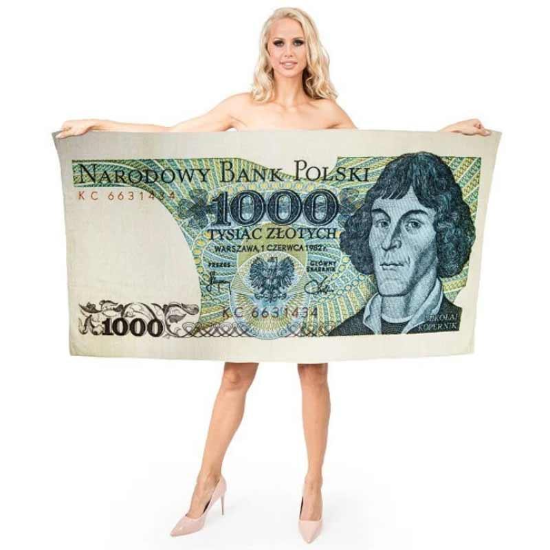 ręcznik 1000 złotych polskich