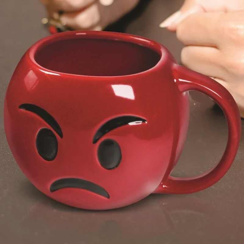 wściekły kubek emotka