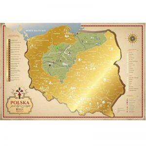zdrapka chrześcijańska mapa polski pielgrzyma