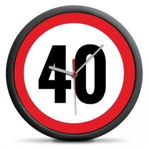 zegar scienny na 40 urodziny
