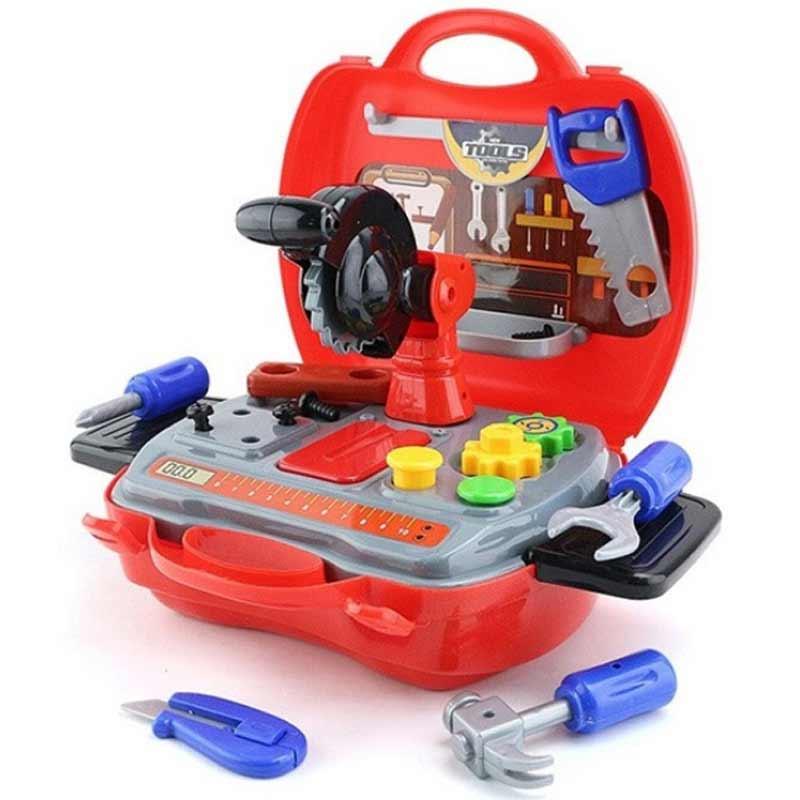 zestaw narzędzi w walizce dla dzieci