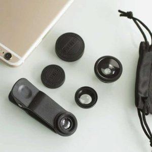 zestaw obiektywów do smartfona 3w1