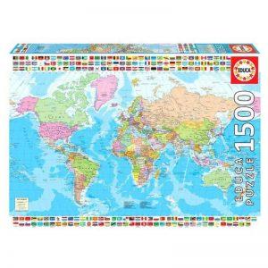 puzzle mapa świata 1500 elementów